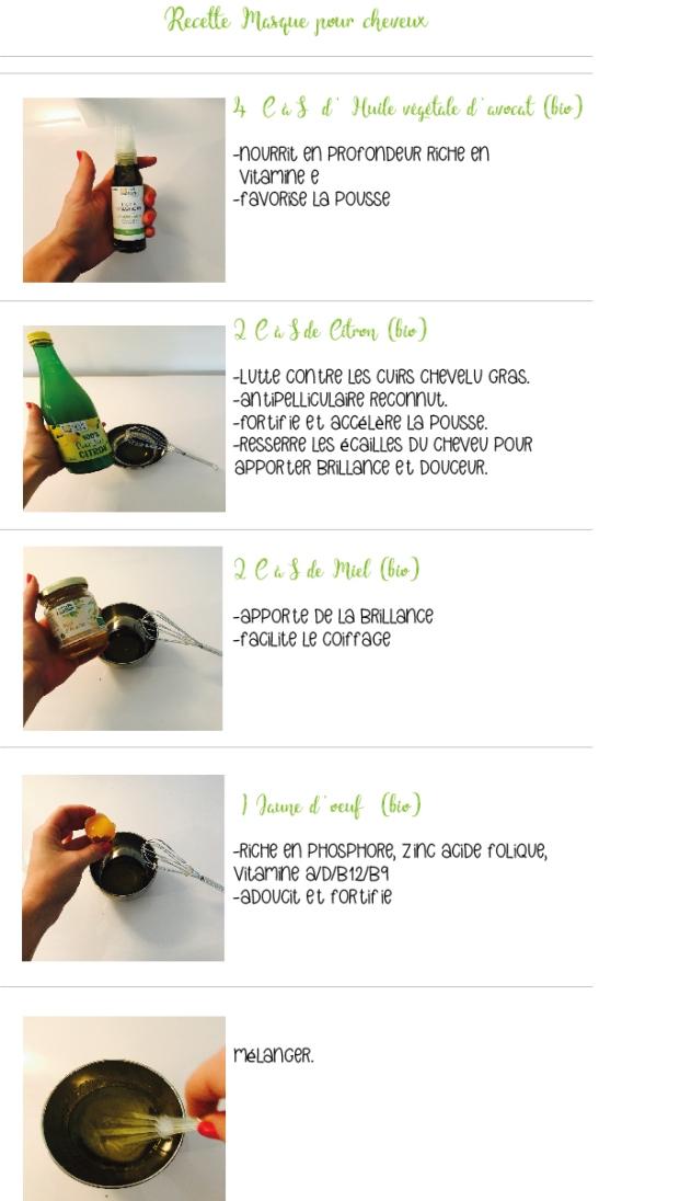 recette masque cheveux