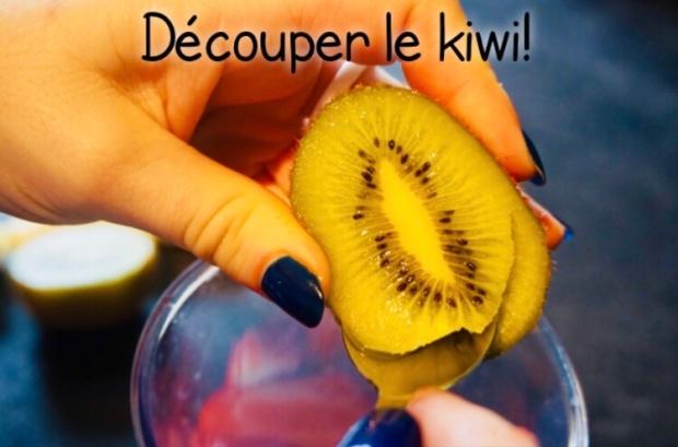 Découper les kiwi