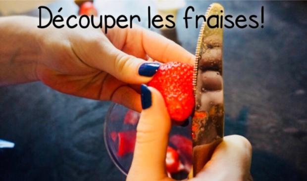 Découper les fraises