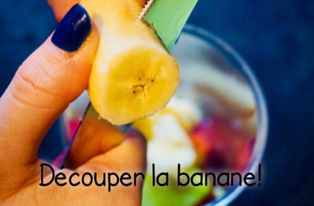 Découper les bananes